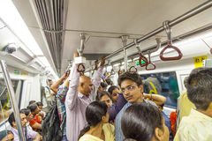 Passengers ride in the metro train Stock Photography