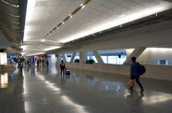 Passengers at San Francisco International Airport Stock Photography