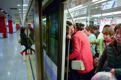 Passengers in Shanghai Metro - China Royalty Free Stock Image