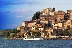 Passengers Ship On Bracciano Lake royalty free stock image
