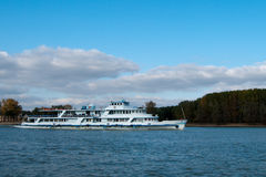 Passengers Ship on River Royalty Free Stock Images
