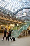 Passengers in St Pancras International station in London Stock Photography