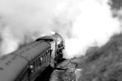 Passengers on steam train