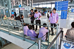 Passengers in Suvarnabhumi Royalty Free Stock Photo