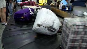 Passengers Take their Luggage stock video