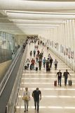 Passengers In Terminal 3 of Ben Gurion Airport, Israel.It consid Royalty Free Stock Images