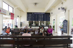 Passengers thai people wait and buy ticket train at Phuttalung l Stock Image