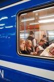 Passengers at tram, STOCKHOLM Stock Images