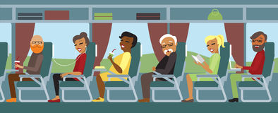 Passengers travelling by bus Royalty Free Stock Image