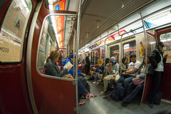 Passengers in TTC subway wagon in Toronto Stock Photos