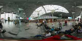 Passengers in Vnukovo airport Stock Photo