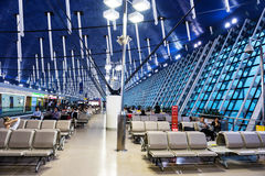 passengers wait for departure in Pudong airport Royalty Free Stock Photo