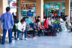 Passengers waiting to travel Stock Images