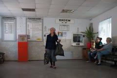 Passengers waiting for transport inside Bus Station  28.05.2018 Stock Images
