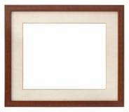 Passepartout en bois de trame de photo Photos stock