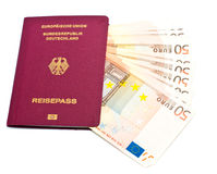 Passeport allemand international Photographie stock