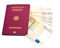 Passeport allemand international photographie stock