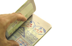 passeport au monde Photographie stock