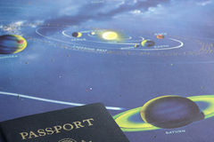 Passeport au système solaire Photographie stock
