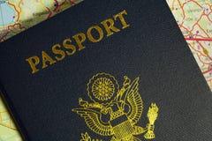 Passeport avec les symboles des Etats-Unis d'Amérique. Photos libres de droits
