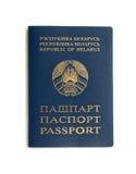 Passeport biélorusse Photo libre de droits