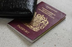 Passeport britannique Images libres de droits