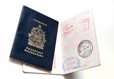 Passeport canadien Images libres de droits