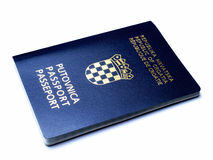 Passeport croate Photos libres de droits