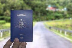 Passeport d'Australie image stock