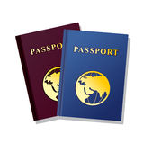 Passeport d'isolement sur le fond blanc Illustration Stock