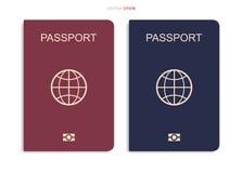 Passeport d'isolement sur le fond blanc Vecteur illustration stock