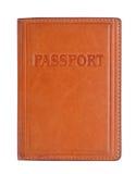 Passeport dans le cache en cuir images libres de droits