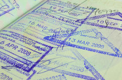 Passeport de déplacement Photographie stock