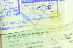 Passeport de déplacement Image stock
