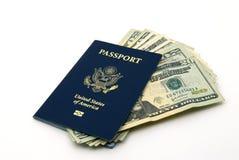 passeport de devise nous Photo stock