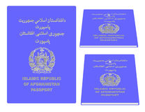 Passeport de l'Afghanistan Images stock