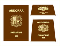 Passeport de l'Andorre Photo stock