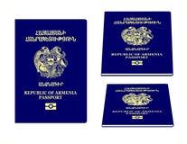 Passeport de l'Arménie Photos libres de droits