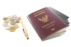 Passeport de la Thaïlande Photos libres de droits