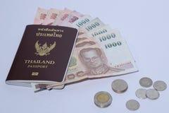 Passeport de la Thaïlande avec l'espace blanc insolated de fond et de copie Image stock