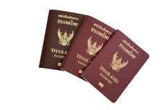 Passeport de la Thaïlande d'isolement Image stock