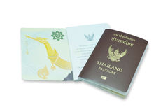 Passeport de la Thaïlande sur le fond blanc image libre de droits