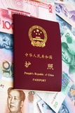passeport de papier de devise de porcelaine Photographie stock