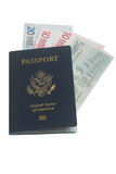 Passeport des USA Photos libres de droits