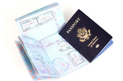 Passeport des USA : Londres, Rome, Francfort Photos libres de droits