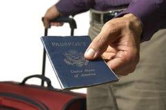 Passeport des USA pour la course Photographie stock libre de droits