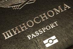 Passeport du citoyen de la république du Tajikistan en voyageant à l'étranger Images libres de droits