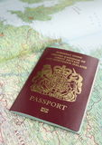 Passeport et carte Photos libres de droits