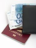 Passeport et pochette Photo libre de droits