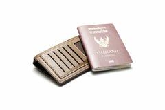 Passeport et portefeuille Photos libres de droits